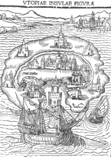 Map of the island, Utopia.