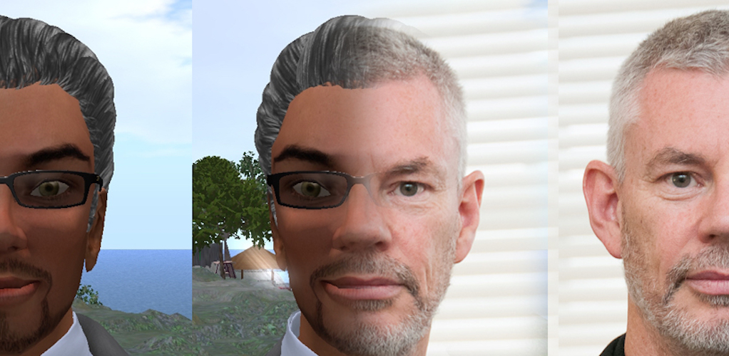 Real face merging with avatar