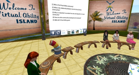 Class field trip to Virtual Ability Island
